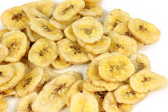 Dried banana chips Stock Image