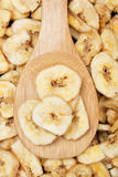 Dried banana chips Royalty Free Stock Photo