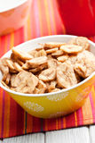 Dried banana chips Royalty Free Stock Images