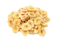 Dried banana chips Stock Images