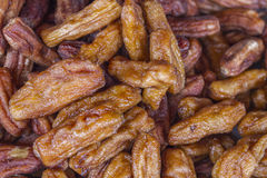 Dried Banana in Honey and syrup - Thai Sweet Royalty Free Stock Images