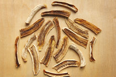 Dried banana (raw food sweet banana chips) Stock Photo