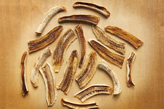 Dried banana (raw food sweet banana chips) Stock Images