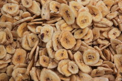 Dried banana slices royalty free stock images