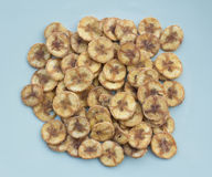 Dried banana slices coated with sugar Royalty Free Stock Photo