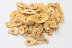 Dried banana on a white background Stock Images