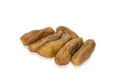 Dried bananas  on white background,clipping path Stock Photography