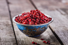 Dried barberries Stock Photos