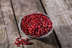 Dried barberries Royalty Free Stock Photography