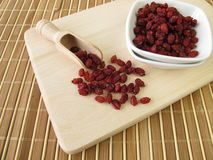 Dried barberries. In small bowls Stock Photography