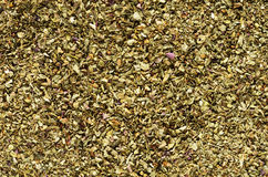 Dried Basil Flakes Macro Royalty Free Stock Images