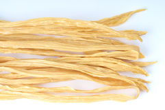 Dried Beancurd sticks. Beancurd stick in isolated background Royalty Free Stock Photos