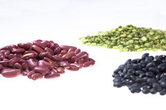 Dried beans and lentils. Royalty Free Stock Photo