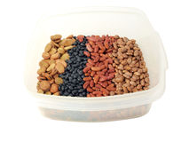 Dried beans variety Stock Photo