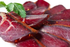 Dried beef or pork - Royalty Free Stock Photography