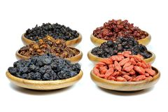 Dried berries stock images