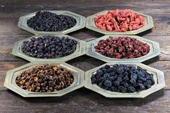 Dried berries Royalty Free Stock Images