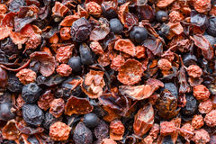 Dried berries close up background. Dried mixed berries close up background Stock Photography