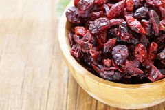 Dried berries red cranberries Royalty Free Stock Photo
