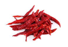 Dried big chili on white background Stock Photography