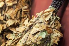 Dried birch twigs, Russian sauna accessories Stock Image