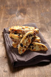 Dried biscotti on a napkin Royalty Free Stock Photography