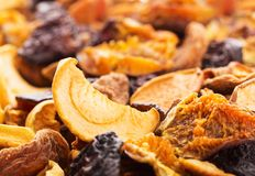 Dried bits of  fruits Royalty Free Stock Image