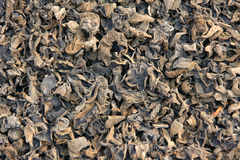 Dried black fungus Stock Photo