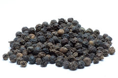 Dried black peppers Royalty Free Stock Photos