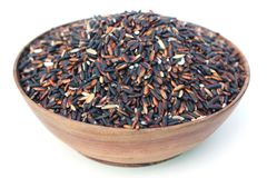 Dried black rice Royalty Free Stock Photography