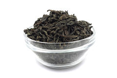 Dried black tea leaves Royalty Free Stock Photo