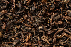 Dried black tea leaves Stock Photos