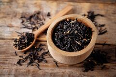 Free Dried Black Tea With Spices Stock Photography - 216455782