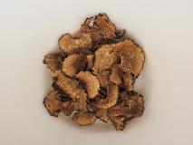 Dried black truffles. Dried black summer truffles Tuber aestivum vitt royalty free stock photo