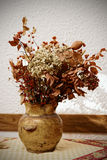Dried bouquet in pot, toned Royalty Free Stock Photo