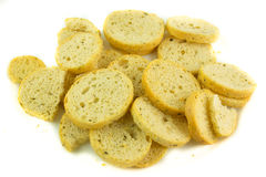 Dried bread croutons Stock Image