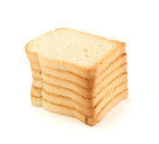 Dried bread slices Stock Photography