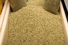 Dried brown lentils on a market stand Stock Photography