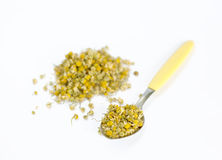Dried camomile. On white background Royalty Free Stock Images