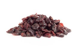 Dried Dried canberry mix blueberry fruit isolated on white backgroud, food healty diet. Dried canberry mix blueberry fruit isolated on white backgroud royalty free stock photography