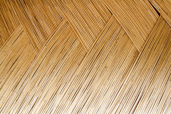 Dried cane pattern interlaced texture Royalty Free Stock Photos