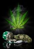 Dried cannabis plant, marijuana Stock Image