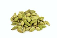 Dried cardamom pile Royalty Free Stock Photos