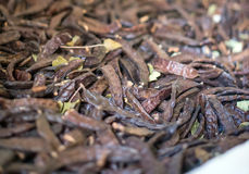 Dried carob beans. Royalty Free Stock Photo