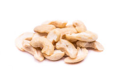 Dried cashews isolated on white Stock Photos