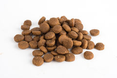 Dried cat or dog food isolated on white Royalty Free Stock Photography