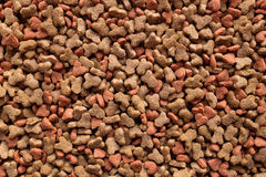 Dried cat food background Royalty Free Stock Photos
