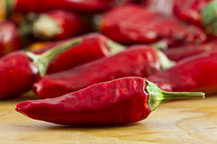 Dried cayenne red pepper Royalty Free Stock Photo