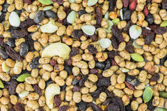 Dried cereal seeds and fruits Stock Images