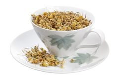Dried Chamomile Tea in Cup Royalty Free Stock Image